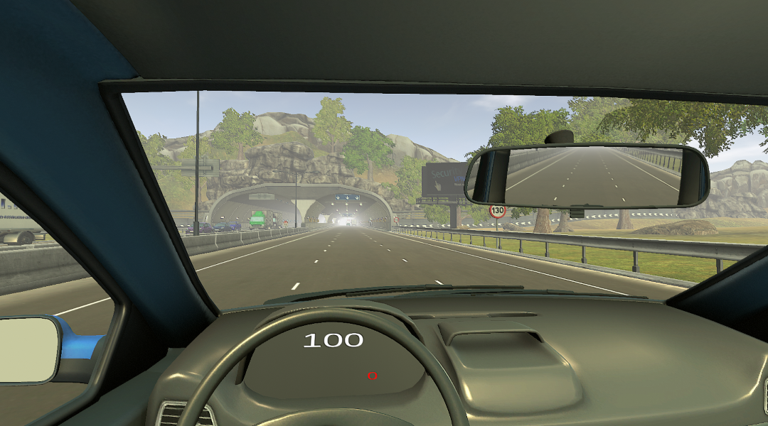 Sunny countryside and tunnels environment